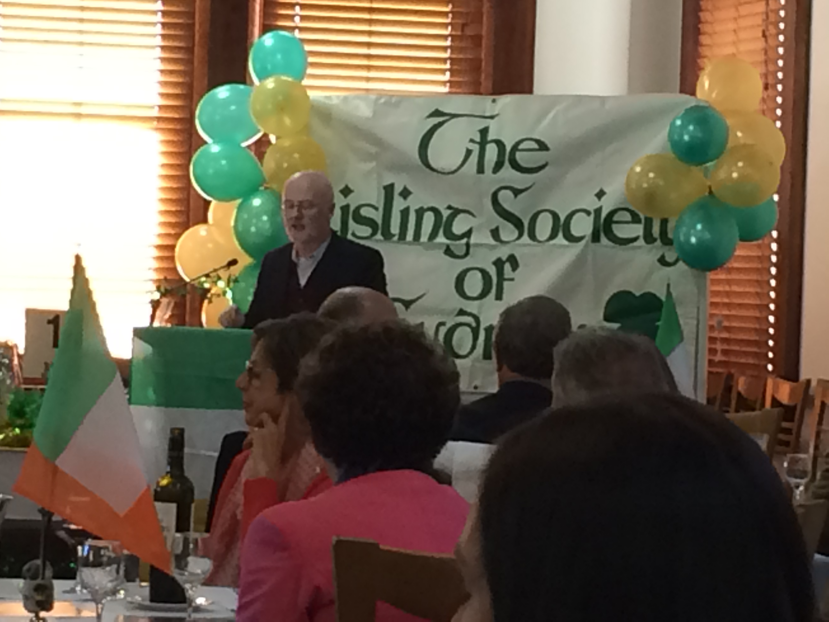Ambassador Noel White addresses Aisling Society